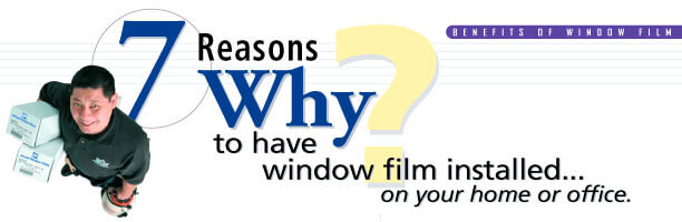 Window tinting for your home or office